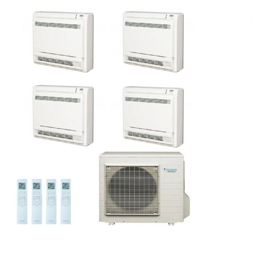 Daikin Air conditioning Multi 4MXS80E Heat Pump Inverter 4 x FVXS25F (2.5Kw/9000Btu) Floor/Console A+ 240V~50Hz